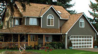 Before and After: asphalt shingle roof to beautiful Cedar Shakes roof
