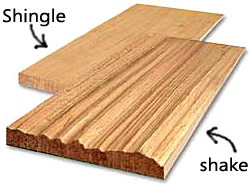 Wood Shakes and Shingles comparison image