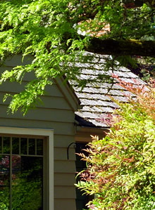 example of wood roofing shingles used for cedar shake and shingle roofs